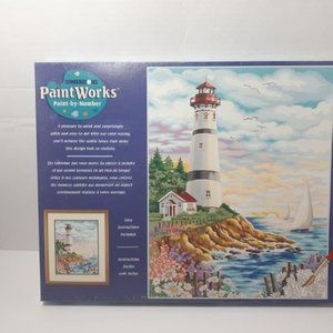 Lighthouse at Sunrise Dimensions paint works by nu